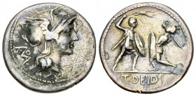 T. Deidius AR Denarius, 113 or 112 BC 
