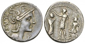 P. Porcius Laeca AR Denarius, 110/109 BC 