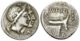 Mn. Fonteius AR Denarius, 108-107 BC 