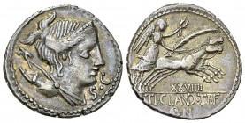 T. Claudius Nero AR Denarius, 79 BC 