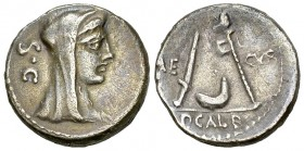 P. Sulpicius Galba AR Denarius, 69 BC 