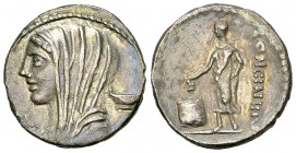 L. Cassius Longinus AR Denarius, 63 BC 