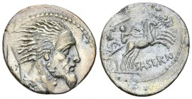 L. Hostilius Saserna AR Denarius, 48 BC 