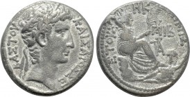 SELEUCIS & PIERIA. Antioch. Augustus (27 BC-14 AD). Tetradrachm. Dated Cos. XII and Year 27 of the Actian Era (5/4 BC).