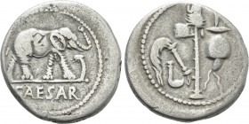 JULIUS CAESAR. Denarius (49 BC). Military mint traveling with Caesar.