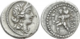 JULIUS CAESAR. Denarius (48-47 BC). Military mint traveling with Caesar in North Africa.