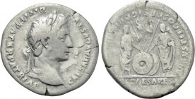 AUGUSTUS (27 BC-14 AD). Denarius. Rome. Restitution issue struck under Trajan or Hadrian (98-138).