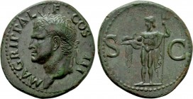 AGRIPPA (Died 12 BC). As. Rome. Struck under Caligula (37-41).