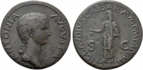 ANTONIA II (Augusta, 37 and 41). Dupondius. Rome.