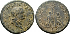 "TITUS (79-81). Sesterius. Rome. ""Judaea Capta"" issue."