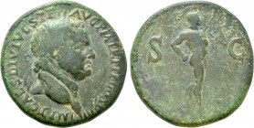 TITUS (79-81). Sestertius. Uncertain mint in the Balkans.
