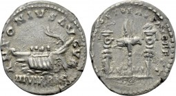 MARCUS AURELIUS & LUCIUS VERUS (161-169). Denarius. Restitution issue for Mark Antony. Rome.