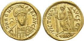 ZENO (Second reign, 476-491). GOLD Solidus. Constantinople.