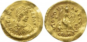 ZENO (Second reign, 476-491). GOLD Semissis. Constantinople.