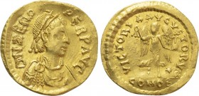 ZENO (Second reign, 476-491). GOLD Tremissis. Constantinople.