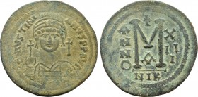 JUSTINIAN I (527-565). Follis. Nicomedia. Dated RY 13 (539/40).