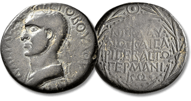 Lot 564. KINGS OF ARMENIA MINOR. Aristobulus, 54-71/2. Oktachalkon , with Nero (54-68). Chalcis (?), RY 13 = 66/7.