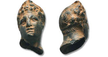 Lot 1005. Rare and Attractive Bust of Alexander III the Great.